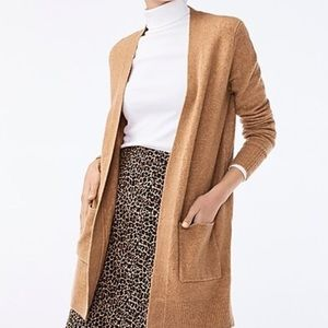 J. Crew Open Front Cardigan in Extra Soft Yarn